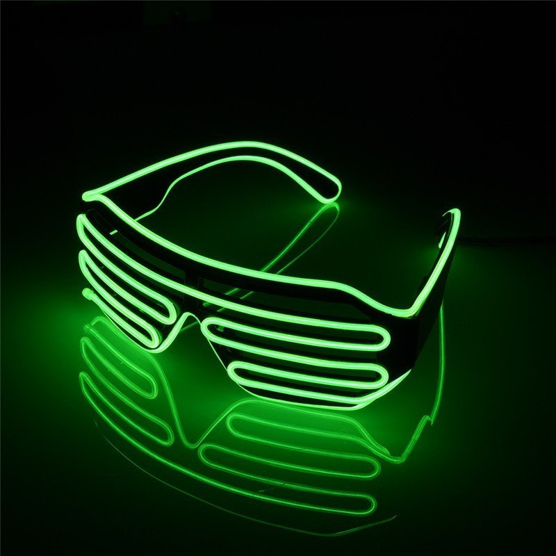 LED akiniai vakareliams su pultu