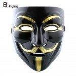 Vyriška juoda Vendetta karnavalinė kaukė
