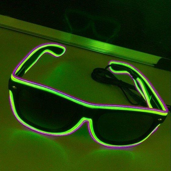 LED mirksintys akiniai