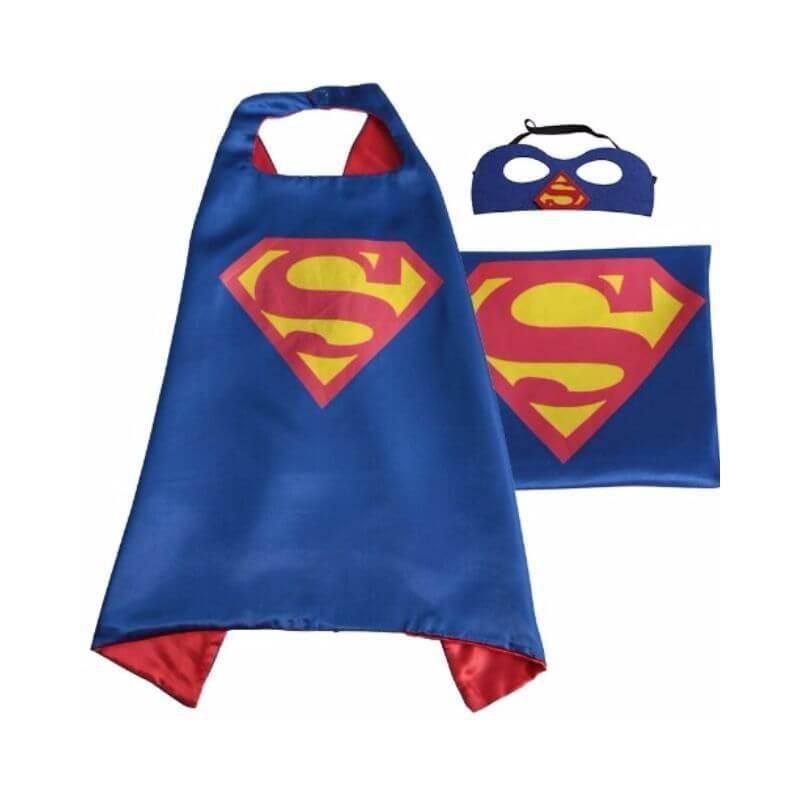Supermeno apsiaustas ir kauke vaikams