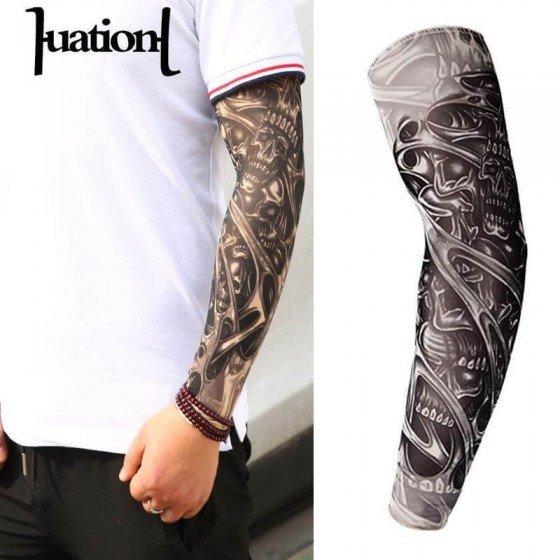 Elastinga tatauiruotes imitacijos rankove