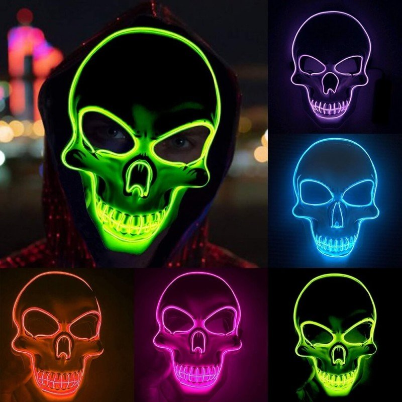 LED sviecianti karnavaline kaukoles kauke