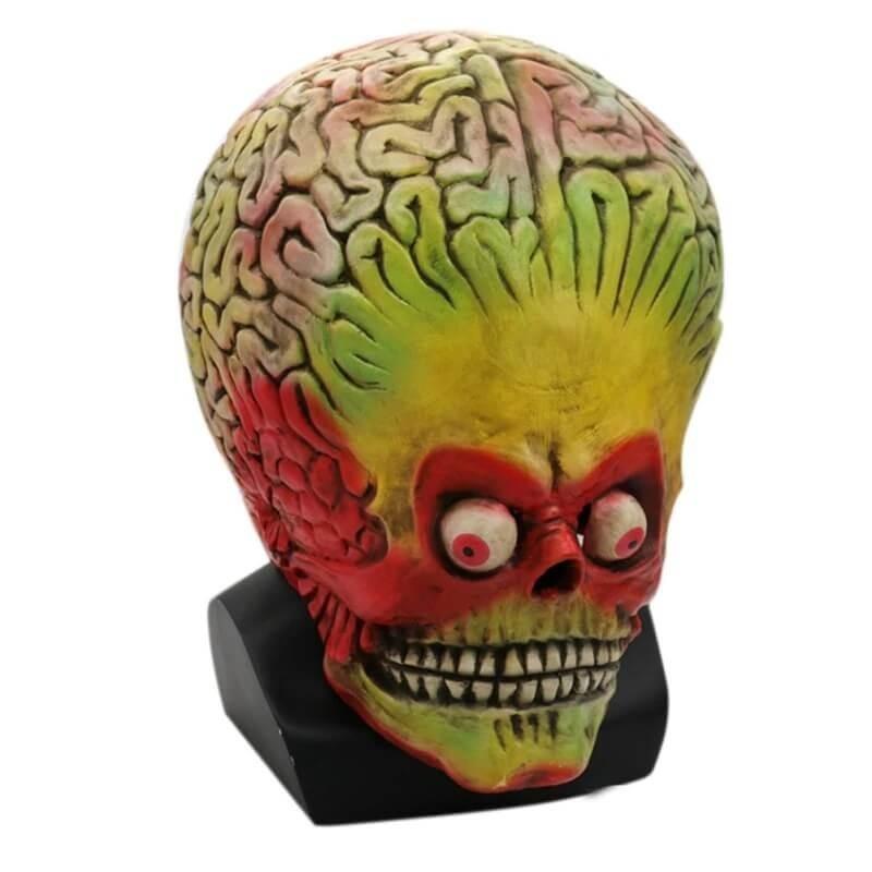 Helovyno siaubo visos galvos karnavalines kaukes