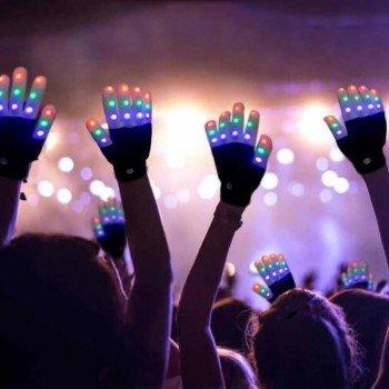 LED šviečiančios pirštinės