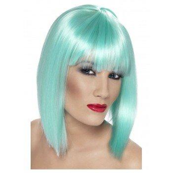 Neon Aqua trumpų plaukų...