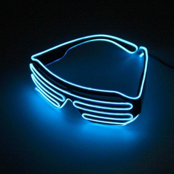 LED akiniai su pultu