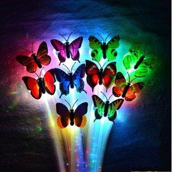 LED plauku segtukai, drugeliai